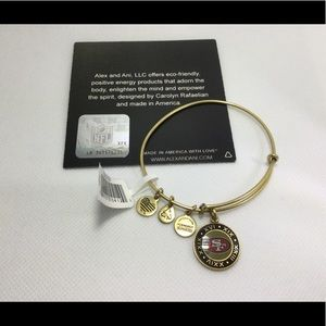 NWT Alex and Ani SF Super Bowl 50 bracelet